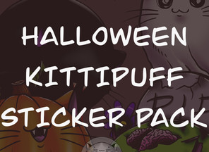 Halloween Kittipuff Sticker Pack Pre-Orders