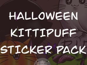 Halloween Kittipuff Sticker Pack Pre-Orders