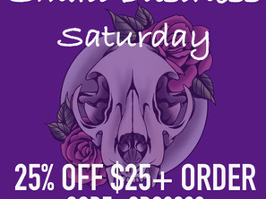Small Business Saturday (& Sunday!) Special