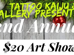 2nd Annual Tattoo KAIJU $20 Art Show
