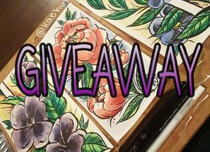 Instagram Giveaway ENDED - Original Floral Illustrations