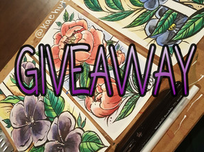 Instagram Giveaway ENDED - Original Floral Illustrations