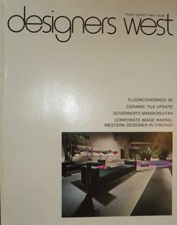 Designer West Cover #1
