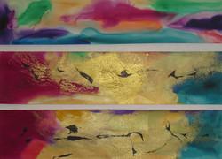 Gold Jewel - Triptych #3