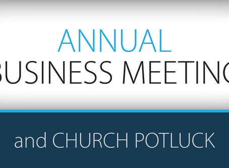 Business Meeting & Potluck // Jan 27