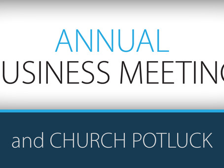 Business Meeting & Potluck // Jan 27