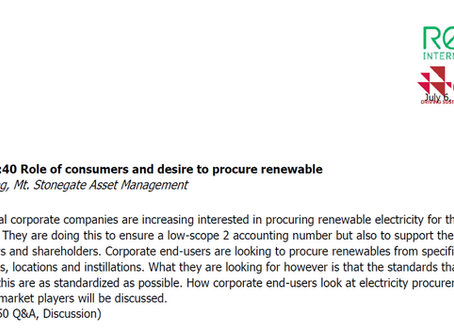 Our Managing Director Jules Chuang is a conference speaker of Tokyo: Workshop Consuming renewables i