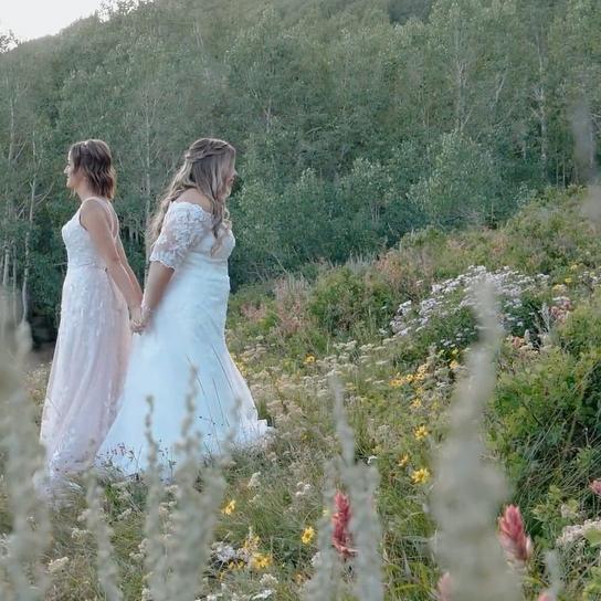 Louland Falls | Salt Lake City, UT | Ally + Holly - LGBT Wedding