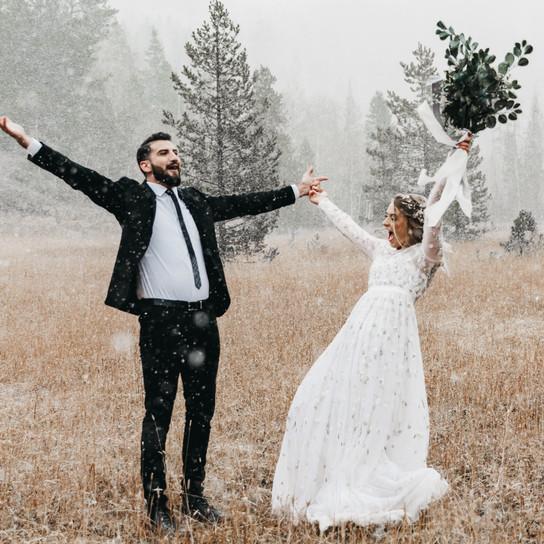 Canadian Rockies, Secret Location - Vow Exchange | Kate + Leo