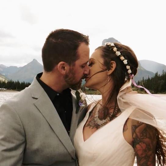 Glacier National Park, MT Intimate Wedding | Kris + Lauren