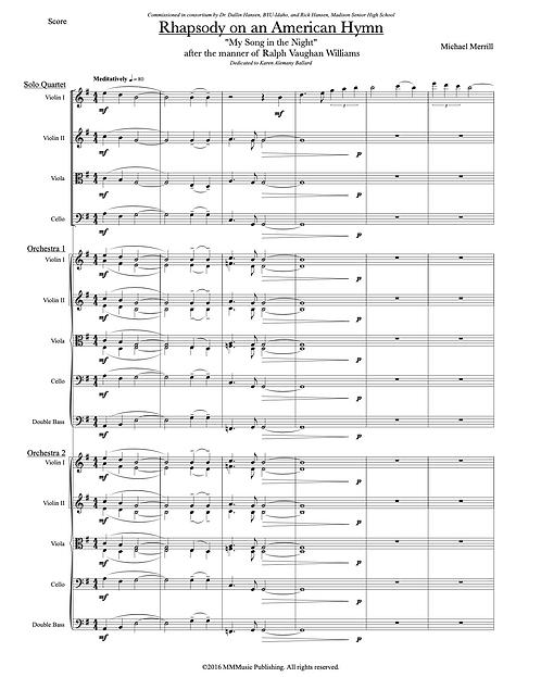 Rhapsody on an American Folk Hymn (Score only)