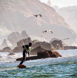 Kite foiling