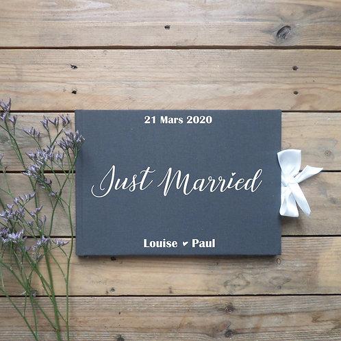 Livre d'or modèle Just Married