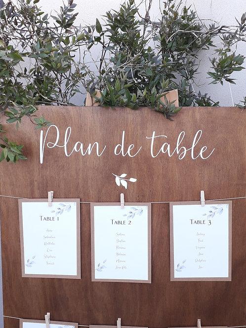 """Sticker """"Plan de table"""" ou """"Trouvez votre place"""""""