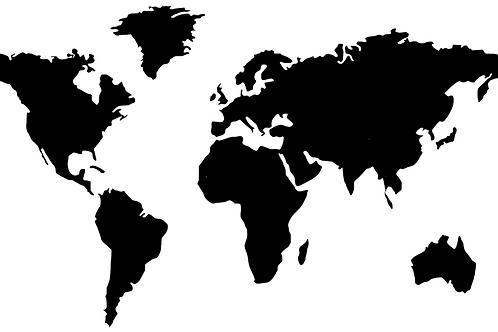 """Sticker """"Carte du monde"""""""