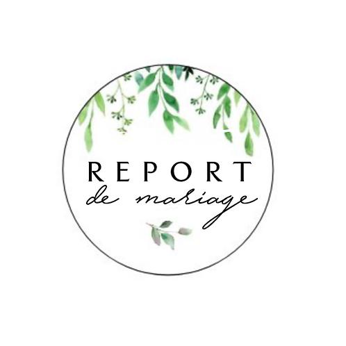 Sticker pour report de mariage