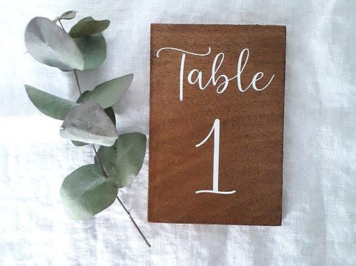 Stickers numero de table