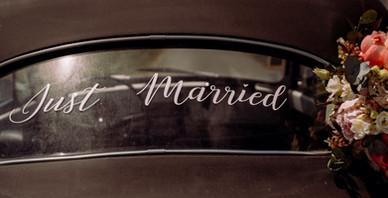 "Sticker ""Just Married"""