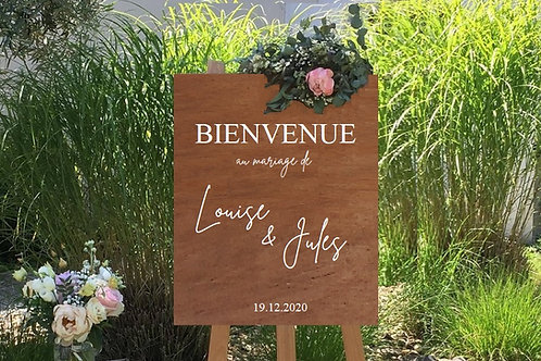 """Sticker """"Panneau de bienvenue L+V"""""""