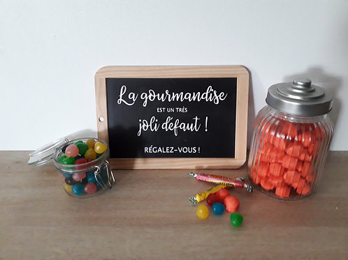 "Sticker "" La gourmandise """