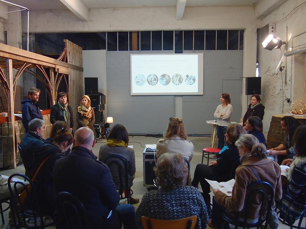 Présentation collective du projet Le Plongeoir © LA COOP A CABANA