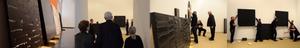"""""""Soulages, XXIème siècle"""", accrochage de l'exposition au Musée des Beaux-Arts de Lyon"""