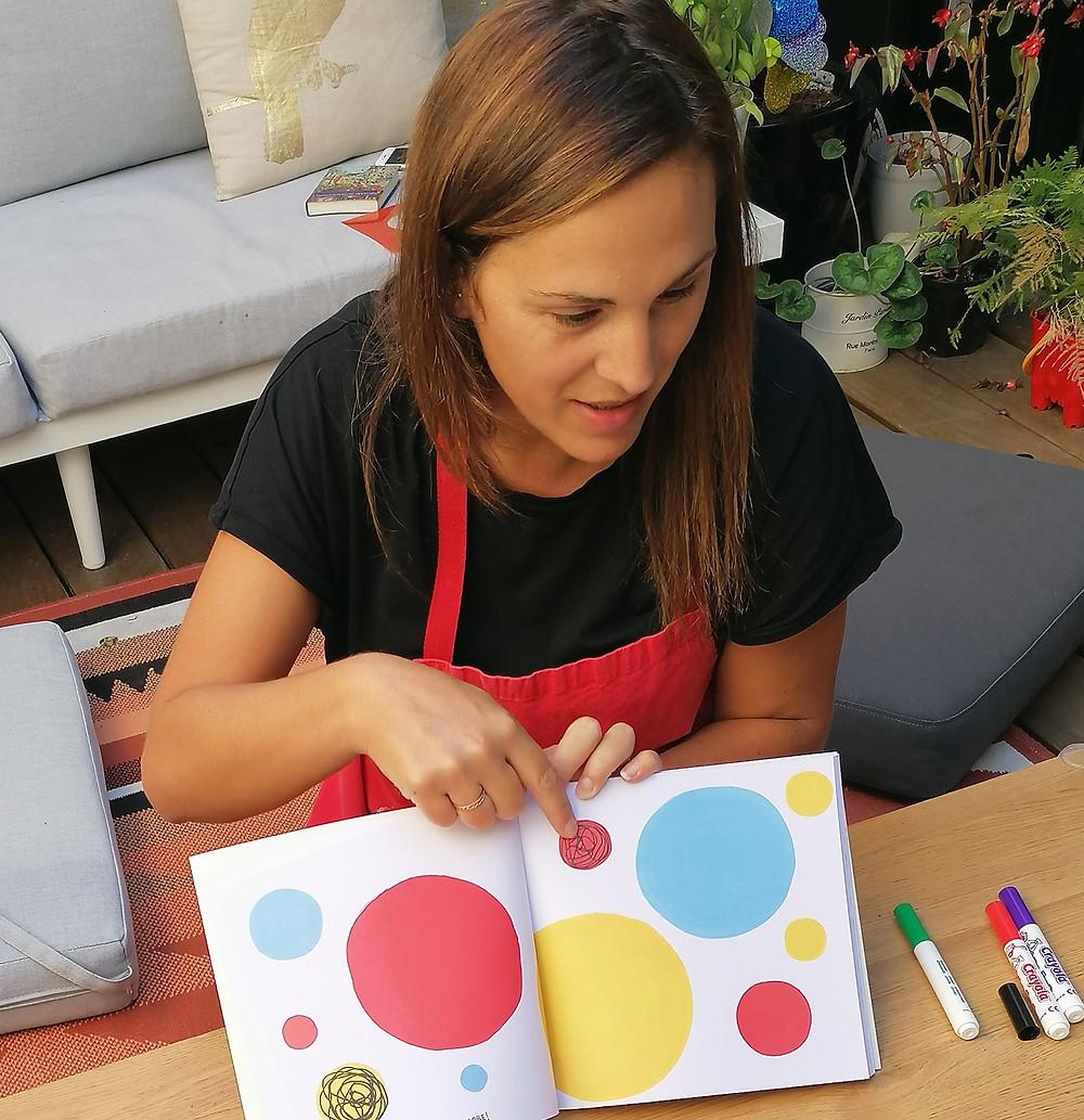 Pauline Lacaze en atelier