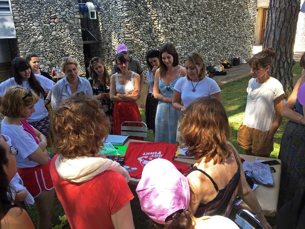 Summer School 2019. Atelier avec la graphiste Roxane Maillet. En partenariat avec la Villa Arson, et avec le soutien de Lafayette Anticipations. Photo : Cyrille Guitard.