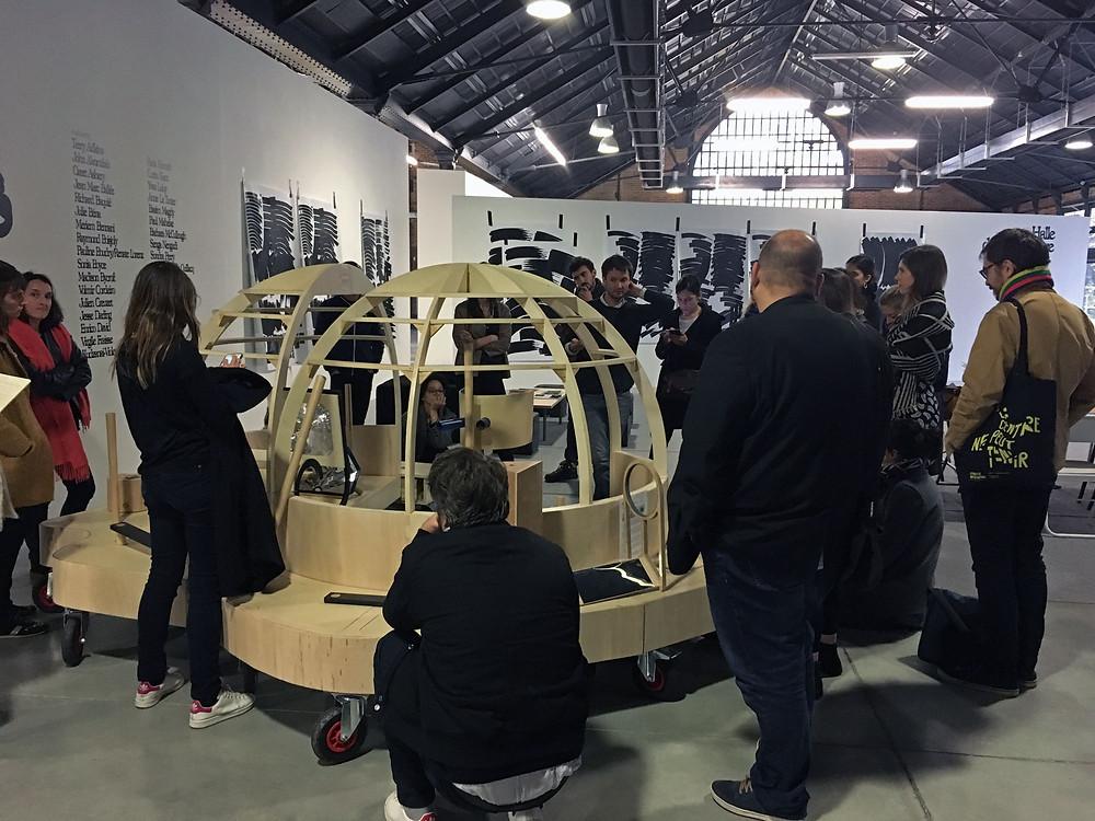 BLA!, journée professionnelle aux Ateliers de Rennes - biennale d'art contemporain, novembre 2018. Rencontre avec les équipes de médiation et découverte des dispositifs de médiation mis en place.  Photo : Cyrille Guitard.