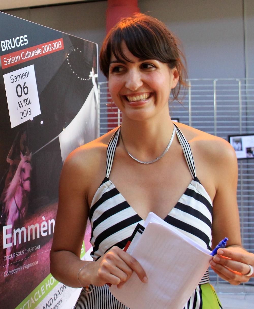 Géraldine Dedieu, directrice des affaires culturelles de Bruges
