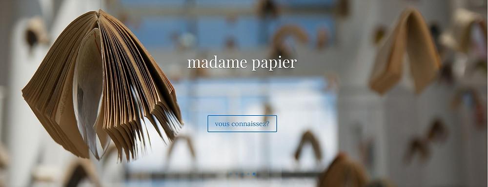 visuel site web madame papier