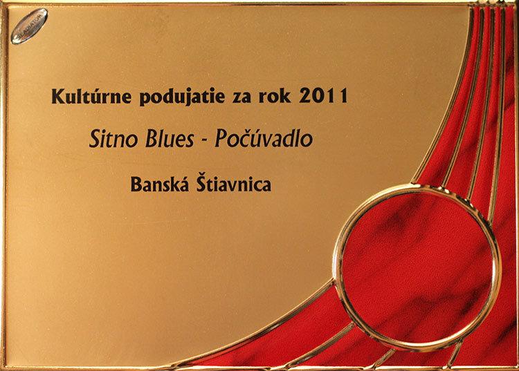 diplom Sitno Blues mesto Bánska Štiavnica za rok 2011