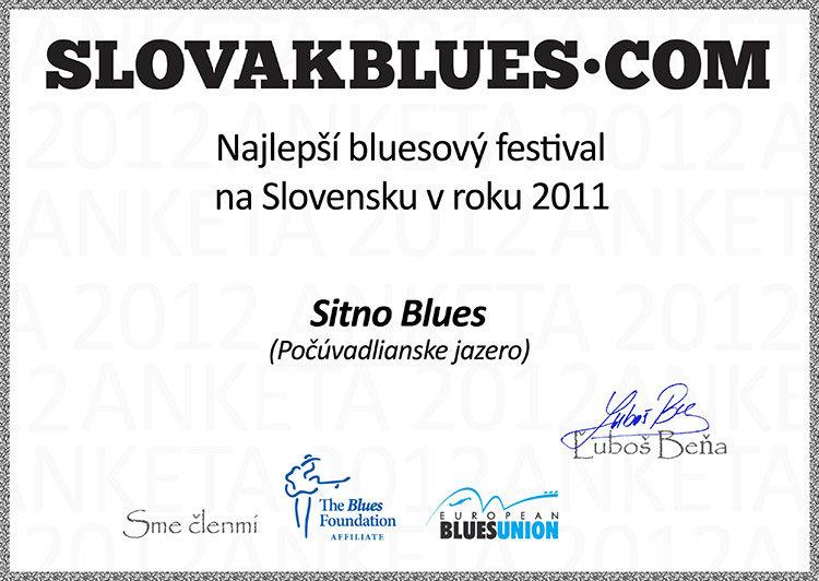diplom Slovakblues za rok 2011
