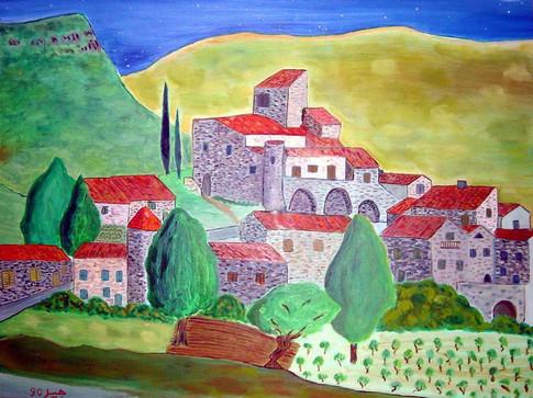 Ardeche village - 1990