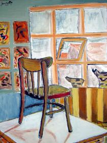 Chair on table (School work) - 1990