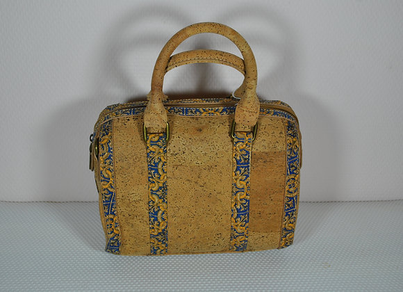 Handgedragen handtas in kurk