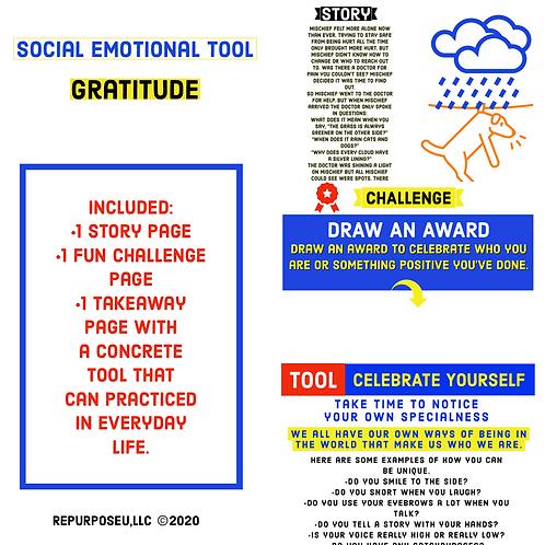 SEL Gratitude Lesson--DOWNLOADABLE