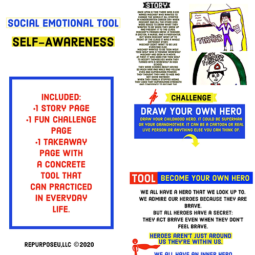 SEL Self-Awareness Lesson--DOWNLOADABLE