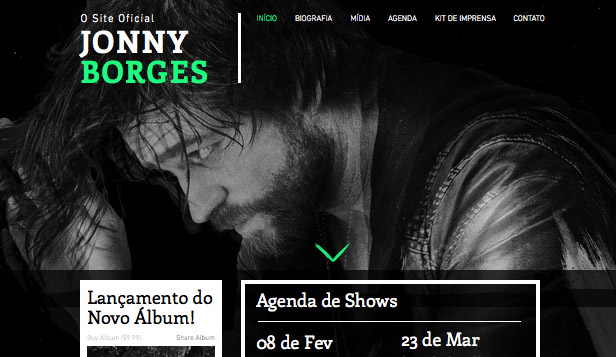 Música website templates – Rock Alternativo