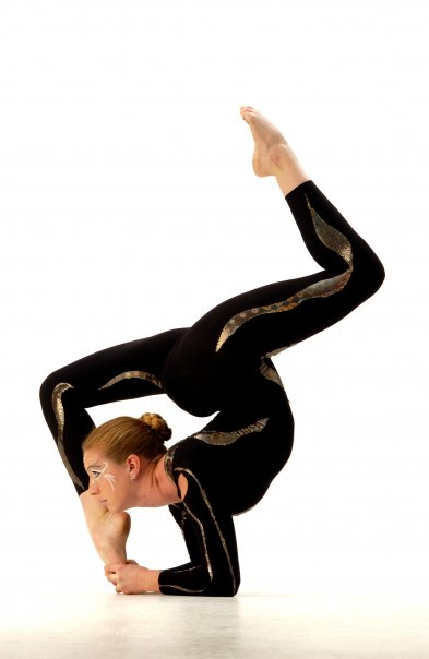 Contortion forearm stand