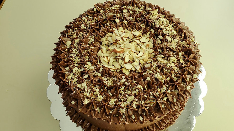 Hershey Chocolate Almond Double Layer Cake