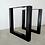 Thumbnail: Square shape Set of Steel Dine Table Legs. Heavy Duty Metal Table Legs /set of 2