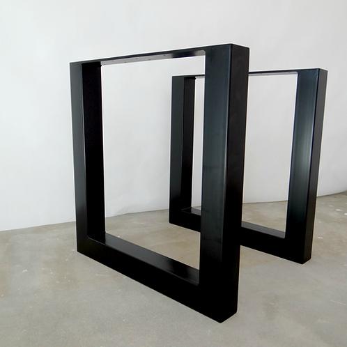 Square shape Set of Steel Dine Table Legs. Heavy Duty Metal Table Legs /set of 2