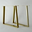 gold metal table legs