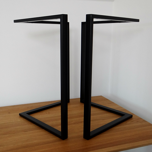 "L shape Steel Dining Table Legs (71cm/28""wide)."