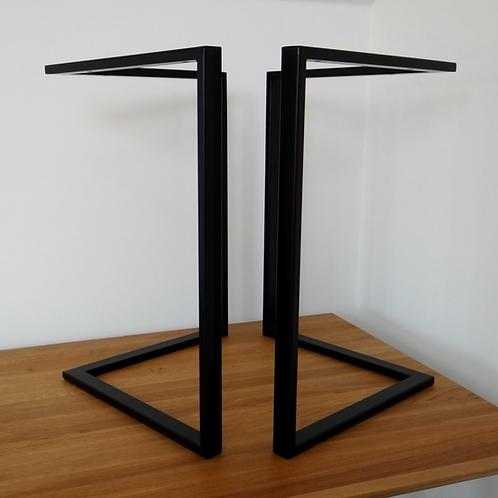 """L shape Steel Dining Table Legs (61cm/24""""wide)."""