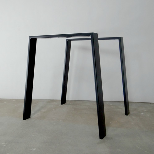 Trapezoid Steel Dining Table Legs Set Of Metal Table Legs - How to make metal table legs