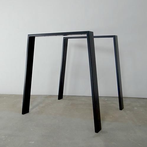 Trapezoid Steel Dining Table Legs (set of 2). Metal Table Legs.