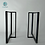 Thumbnail: T shape Steel Dining Table Legs. Strong and Sleek Base for Table.