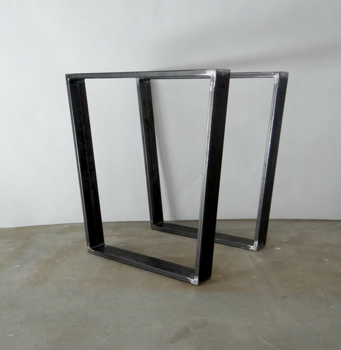 Trapezoid Steel Dining Table Legs Set Of 2 Metal Table Legs
